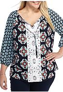 Crown & Ivy™ Plus Size Bib Top