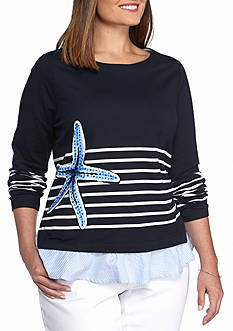 Crown & Ivy™ Plus Size Graphic Sweatshirt