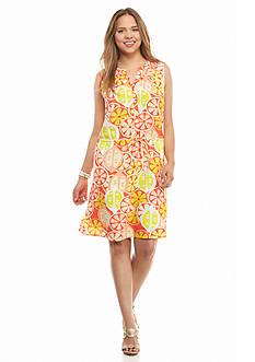 crown & ivy™ Plus Size Citrus Dress