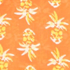 Plus Size Blouses: Orange/Yellow/White crown & ivy™ beach Plus Size Smock Neck Printed Top