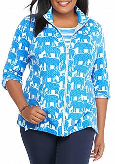 crown & ivy™ beach Plus Size Full Zip Sweatshirt
