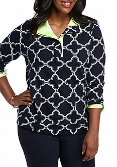 Crown & Ivy™ Plus Size Printed Sweatshirt