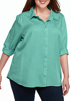 Plus Size Tencel® Shirt
