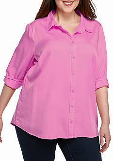 Crown & Ivy™ Plus Size Tencel® Shirt