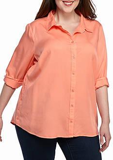 crown & ivy™ Plus Size Tencel Shirt