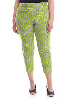 Crown & Ivy™ Plus Size Woven Crop Length Pant