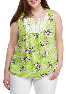 Crown & Ivy™ Plus Size Woven Top