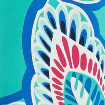 Plus Size Blouses: Jade/Blue crown & ivy™ Plus Size Leaf Print Peasant Top