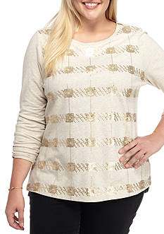 crown & ivy™ Sequin Sweatshirt
