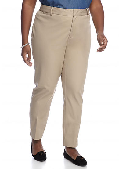 Crown & Ivy™ Plus Size Regular Length Front Fly Stretch Pant