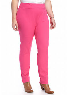 Crown & Ivy™ Plus Size Pull On Bi-stretch Pants