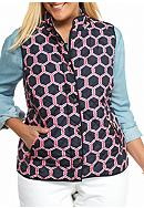 crown & ivy™ Plus Size Printed Puffer Vest