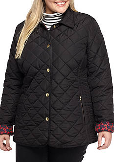 Crown & Ivy™ Plus Size Quilted Barn Jacket