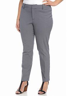 Crown & Ivy™ Plus Size Geo Print Bi-Stretch Pants