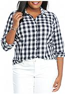 crown & ivy™ Plus Size Gingham Button Down