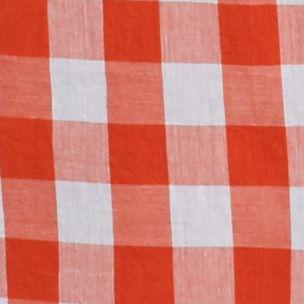 Women's Plus: Crown & Ivy™ Trends-the Edit: Orange/White crown & ivy™ Plus Size Gingham Button Down Shirt