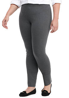 crown & ivy™ Plus Size Heather Pointe Leggings