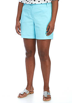 Crown & Ivy™ Plus Size Solid 5-in. Short