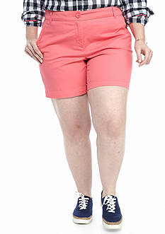 Crown & Ivy™ Plus Size Solid 5-in Short