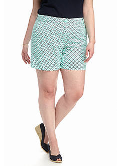 Crown & Ivy™ Plus Size North Star Printed Shorts