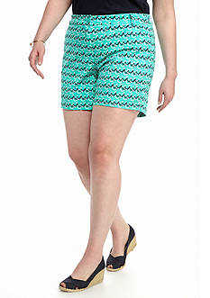 Crown & Ivy™ Plus Size Biker Stripe Printed Shorts