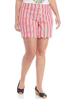 Crown & Ivy™ Plus Size Scallop Shorts