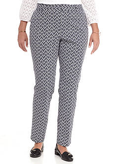 Crown & Ivy™ Plus Size Printed Pant