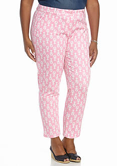 Crown & Ivy™ Plus Size Casual Printed Cropped Pant