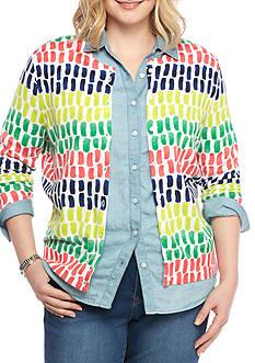 Crown & Ivy™ Plus Size Print Cardigan