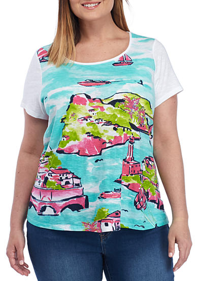 Crown & Ivy™ Plus Size Scenic Swing Tee