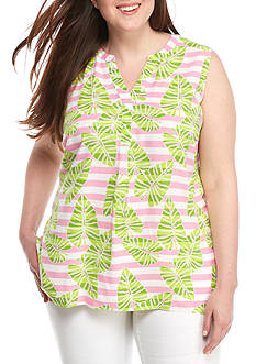 Crown & Ivy™ Plus Size Sleeveless Blouse
