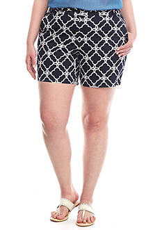 Crown & Ivy™ Plus Size 7-in. Printed Shorts
