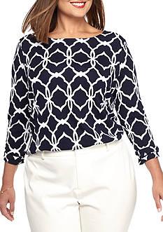 Crown & Ivy™ Plus Size Printed Top