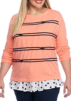 crown & ivy™ Plus Size Graphic Sweatshirt