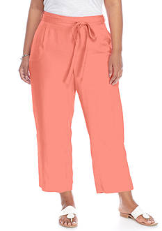 Crown & Ivy™ Plus Size Colored Tencel® Crop Pants
