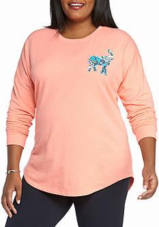 Crown & Ivy™ Plus Size Paislyele Sweeper Sweatshirt