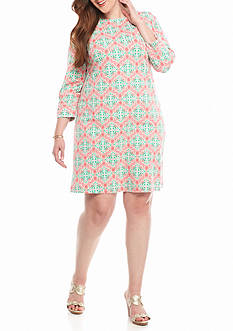 Crown & Ivy™ Plus Size Print Knit Dress