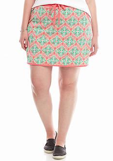 Crown & Ivy™ Plus Size Print Skort