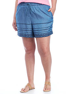 Crown & Ivy™ Plus Size Chambray Short