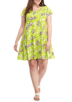 Crown & Ivy™ Plus Size Print Knit Dress