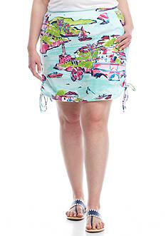 Crown & Ivy™ Plus Size Side Tie Skort