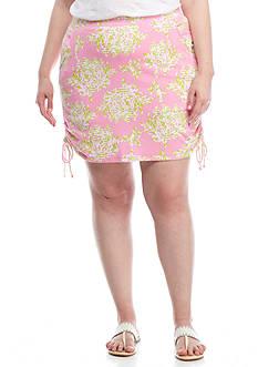 Crown & Ivy™ Plus Size Print Side Tie Skort