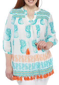 Crown & Ivy™ Plus Size Print Tunic