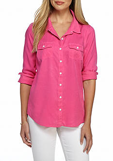 Crown & Ivy™ Colored Chambray Shirt