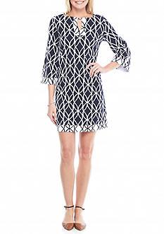 Crown & Ivy™ Three-Quarter Sleeve Shift Dress