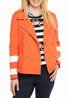 Crown & Ivy™ Color Block Sleeve Jacket