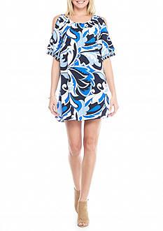 Crown & Ivy™ Cold Shoulder Tier Sleeve Dress