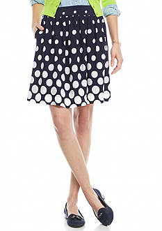 crown & ivy™ Printed Gradient Dot Skirt