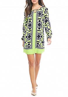 Crown & Ivy™ Lace-up Swingdress