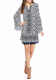 crown & ivy™ Bell Sleeve Dress